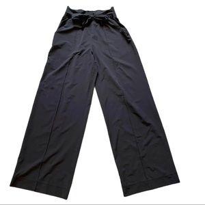 Lululemon Nior Wide Leg Black Pant with Tie Belt 4